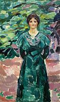 Ingeborg Kaurin, later Ingeborg Onsager, Edvard Munch, circa 1912,.