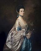 Mrs Edmund Morton Pleydell, Thomas Gainsborough, circa 1765,.