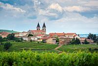 Village of Regnie-Durette, Beaujolais, France.
