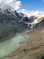 Glacier Pasterze at Mount Grossglockner, which is melting extremely fast due to global warming. Europe, Austria, Carinthia.