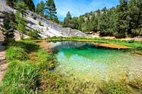 Natural water source of Fuentona of Muriel in soria province, Castilla y Leon, Spain. High quality photo.