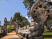 Entrance to Knat Reamsey Pagoda. Siem Reap. Cambodia.