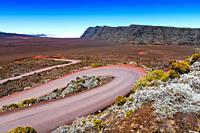 Plaine des Sables, Piton de la Fournaise at Reunion Island.