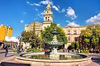 Plaza del Carmen and El Carmen church, San Luis Potosi, Mexico.