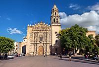 The historic Baroque El Carmen church, San Luis Potosi, Mexico.