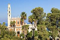 St-Peter's Church through Abrasha Park, Jaffa, Israel.