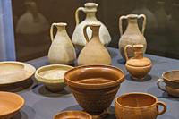 Monographic Museum of Pollentia, clay pots, Alcudia, Mallorca, Balearic Islands, Spain.