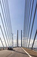 Ã. resund bridge, view from Sweden.