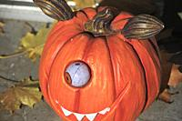 Halloween, decoration, pumpkin,.