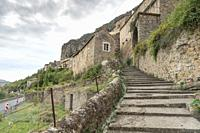 Peyre, old village near Millau Aveyron, Midi-Pyrenees, France on September 23, 2020.