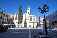Gandia Valencia Spain on November 11, 2020 St Mary collegiate church.