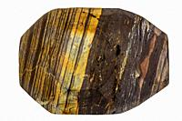 Tiger eye, closeup of the stone.