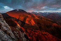Velka Fatra national park at sunset, Slovakia.