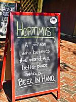 Sign in front of a cafe at Martha's Vineyard, Massachusetts.