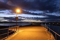 Port of Laredo at dusk, Cantabria, Spain, Europe.