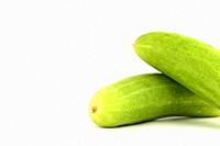 fresh cucumbers isolated on white background.