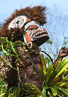 Masked dancers, New Ireland Province, Papua New Guinea.