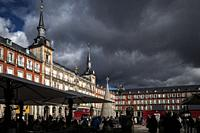 main square (plaza mayor) . madrid. spain.