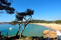 El Castell beach, Costa Brava, Girona province, Catalonia, Spain.