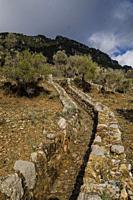 traditional ditch on Orient valley, Mallorca, Balearic Islands, Spain.