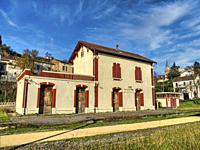 former railway station, Fumel, Lot-et-Garonne Department, Nouvelle-Aquitaine, France.