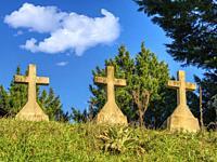 cemetery at Eglise Saint-Pierre-de-Cabannes, near Montastruc, Lot-et-Garonne Department, Nouvelle-Aquitaine, France.