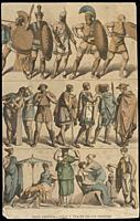 Weapons and clothing of the Greeks in the Ancient Age, 1844. Published by Gustav Weis and Illustrated by Friedich Hottenroth.