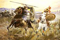 Battle between Greeks and Amazons. Painted by Ulpiano Checa in 1894. Local Museum of Colmenar de Oreja, Madrid, Spain.