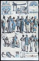 Costumes and ornaments of the Egyptians and Ethiopians in the Ancient Age, 1844. Published by Gustav Weis and Illustrated by Friedich Hottenroth.