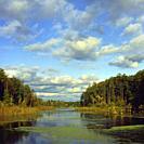 Poland. Bialowieza National Park. Lake at Topilo village.