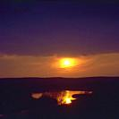 Poland. Sunset over river Bug.