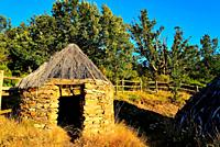 Rustic shack close to La Hiruela, Madrid, Spain.