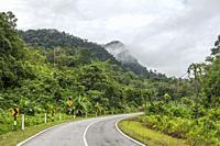 A road to Borneo Highlands, Padawan, Sarawak, East Malaysia