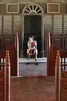 Myanmar, Mandalay, Inside the royal palace.