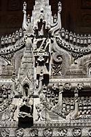 Myanmar, Mandalay, Shwenandaw monastery (19th C).