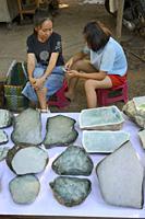 Myanmar, Mandalay, Jade market.