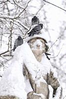 January 9, 2021, Plaza de Oriente after Storm Filomena brought intense snow, MADRID, SPAIN, EUROPE.