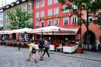 Maximilianstrasse - main touristic promenade in old town, Bayreuth, capital of Upper Franconia, Bavaria, Bayern, Germany, Europe