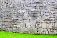 Detail of roman wall of Lugo. Galicia. Spain