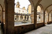 Cloister of the Cathedral of Mondoñedo. Lugo province. Galicia. Spain