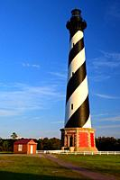Cape Hatteras Lighthouse on the Outer Banks of North Carolina.