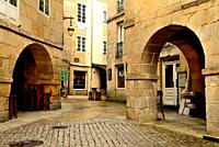 Square in the old city of Lugo, Spain