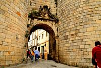 Entrance gate to the Roman Walls of Lugo, Spain