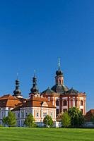 Museum and ballery in Marianska Tynice. Baroque Church and Cistercian Provost Office built in the 18th century. Tynec, Czech Republic.