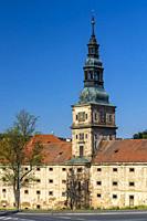 Baroque cistercian Plasy monastery, Plzen region, Czech Republic.