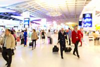 Abstrast Blurred background : airport boarding area.