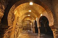 Arab Baths Cultural Center at Villardompardo Palace, Jaen city. Andalusia, Southern Spain Europe.