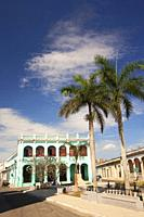 View to the Policlinico Docente Jose Marti Perez Health Center at the historic center, Camagüey, Cuba, West Indies, Central America.