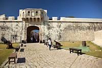 View to the Baluerte De San Pedro-Bastian Of San Pedro at the historic center, Campeche, Campeche State, Mexico, Central America.
