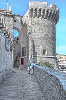 Stone tower.
